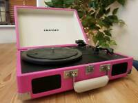 Crosley turntable, Pink