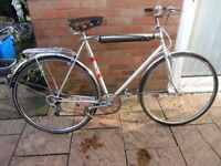 mens town bike tall 23inch frame 5 speed gears £59.00
