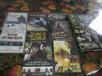 Boxed set of 8 War Dvds & also 9 other war ones- from a smoke free home