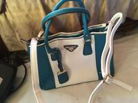 Prada ladies shoulder bag dusty truquoise brand new M size £35