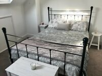 Iron bed frame king size