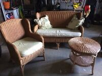 Rattan Suite & table for sale