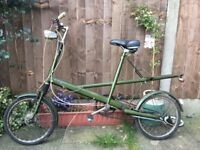 Vintage rare 1960s Moulton bicycle - green all original aprt from the seat