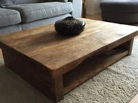Handmade aged oak coffee table for sale