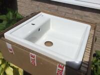 White Ceramic Belfast Sink - 630 x 600mm - New / Boxed
