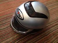 Suomy Motorbike Helmet Dark Metal Medium and Gloves