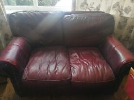 Pair of leather sofas free PUO
