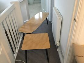 Vintage 1960 formica coffee table and side table