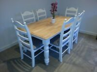 Sumptious 6ft Shabby Chic Table & Chair Set
