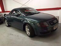 2000/X Audi TT 1.8T 225 Quattro, 3 months mot, HPI Clear, FSH, only 124000 miles, Full Leather