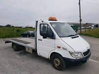2002 MERCEDES SPRINTER 311 CDI LWB WHITE RECOVERY TRUCK BEVERTAIL LONG M.O.T