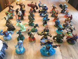 Skylanders figures x 36, Xbox 360 game & portal
