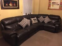Baha Leather, Double Reclining, Left hand corner unit. Dark brown (old dollar) CSL