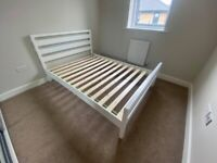 Double bed frame 1 year old