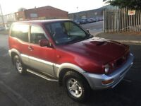 Nissan terano 2 4x4 jeep car 1999 model 3 door ac electric pack 4 months mot drives and looks great