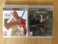 4 NEW GAMES FOR PS3 DEADPOOL, HITMAN. THIEF & DEUS EX HUMAN REVOLUTION