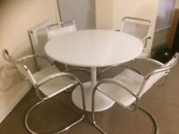 Retro White tulip dining table and chairs