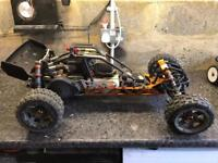 Rc car baja swap traxxas Axial losi brushless
