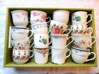 Job lot 10 or more Vintage Mismatched China Tea Cups Vintage Wedding Tea Party