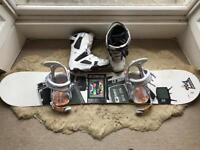 Drake DF2 Snowboard, Rome 390 BOSS Bindings & Boots