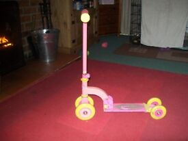 FIRST PINK SCOOTER