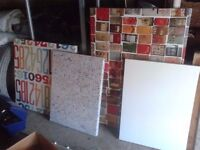 4 x large canvas canvasas pictures paintings . joblot biggest is 4ft x 5ft ish