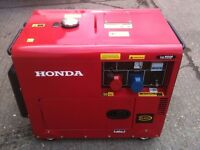 BRAND NEW DIESEL SILENT GENERATOR SINGLE & THREE PHASE