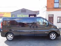 Finance me Renault Trafic LWB sport 6 seat factory fitted crew cab ONLY 34k from new F/S/H (24)