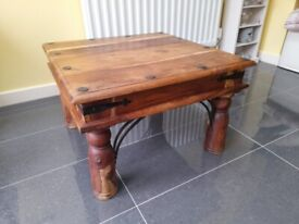 COFFEE TABLE,SOLID WOOD,ANTIQUE STYLE