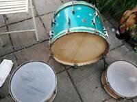 Vintage rare carlton and other vintage drum kit