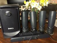 Dell MMS5650 5.1 PC Home surroundsound Speaker system with Subwoofer