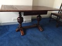 Antique refectory table and chairs