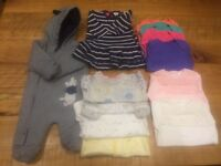 Baby Girl Clothes Bundle (1 Month/newborn) - immaculate and stain free