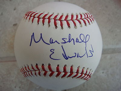 Marshall Edwards Milwaukee Brewers Signed Official Ball