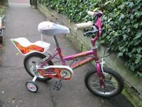 "14"" child's bike with removable stabilisers"