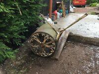 Antique Vintage Wrought Cast Iron Garden Lawn Roller