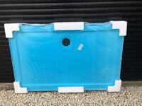 2 new white shower trays 1200x760x80