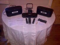 Sony AIR-SA20PK Wireless Audio System. ipad docking station with am & fm radio & 2 wireless speakers