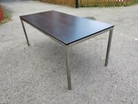 IKEA Torsby Chrome Table & Black Top 180cm FREE DELIVERY 748