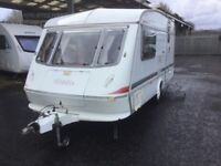 Elddis Touring Caravan 2-3 Berth in excellent condition white with separate shower