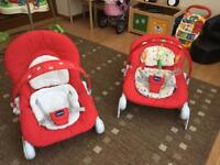 Double Chicco Hoopla Bouncer Red 40£ for the set