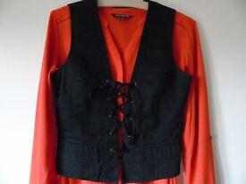 Tommy Hilfiger waistcoat, Black, size 8, side zip