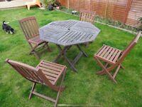 Teak garden furniture set for sale