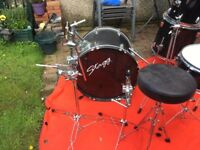 Stagg Drum Kit for sale only £45 perfect for beginners