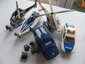Playmobil 5 Police vehicles and Policemen with some accessories