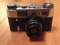Camera FED-5 Soviet vintage camera made in USSR Collectable