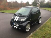 SMART BRABUS, heated leather seats, air conditioning, glass roof, upgraded alloys