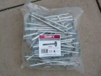 Bag of 50x Grabbfix Metal Insulation Fasteners (170mm)