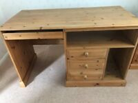 Quality Antique waxed Pine Computer Desk – Good Condition