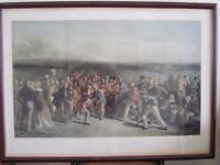 Large print (28ins x x40ins.) of 'The Golfers' at St Andrews in 1841 by Charles Lees.